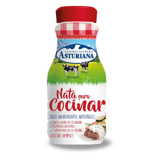 Nata Para Cocinar   Nata Para Cocinar Asturiana Botellita 200 Ml Representaciones Mundaka
